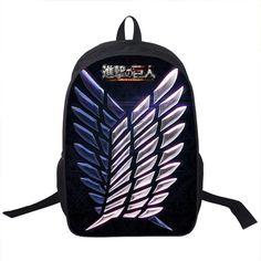 75bb5c5c6f65 Anime Attack on Titan Backpack Young Men Women Ddaily Backpack Mikasa  Ackerman Eren Jaeger School Bags For Teen School Backpacks
