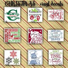 CHRISTMAS vinyl decals | christmas decoration | decal | sticker | decal for canvas | craft supplies Personalized Custom Die Cut Vinyl Decal Sticker for Car Window / Wall / Tumbler / Laptop or any Flat