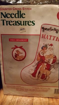 Counted Cross Stitch Needle Treasures Father Christmas Stocking by Tracy S. Flickinger