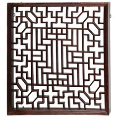 A Small Chinese Lattice Panel