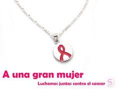 luchemos por el cancer mama  dije de plata con simbolo rosa del cancer  para las grandes mujeres  www.sylviabarcena.com