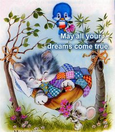Solve Good Night - Sweet Dreams :) jigsaw puzzle online with 72 pieces Cute Images, Cute Pictures, Good Night Everyone, Good Night Blessings, Photo Chat, Good Night Sweet Dreams, Nighty Night, Cat Cards, Illustrations