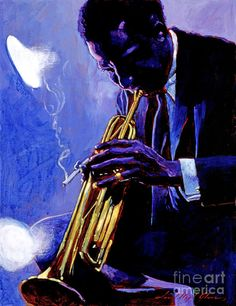 Jazz Instruments Painting - Blue Miles by David Lloyd Glover African American Artist, American Artists, Blue Mile, Pop Art Images, Music Wall Art, Jazz Artists, Impressionist Landscape, Miles Davis, Rhythm And Blues