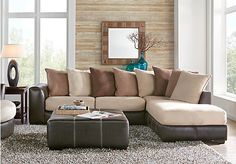 Living room sets for sale. Find full living room suites & furniture collections complete with sofas, loveseats, tables, etc. Fabric upholstery, leather & more. Sofa Couch, Sofa Set, Rooms To Go Sectional, Sectional Sofas, Leather Sectional, Living Room Sets, Living Room Furniture, Living Area, Furniture Sets