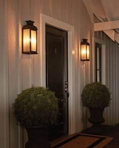Inspired by distinctive, outdoor lanterns commonly found throughout the streets of London, the crowning detail of the traditional Pediment Outdoor Wall Sconce by Feiss is its classically, curv Front Door Lighting, Outdoor Sconce Lighting, Garage Lighting, Outdoor Wall Lighting, Lighting Ideas, Copper Lighting, Lighting Design, Outdoor Porch Lights, Outdoor Wall Lantern