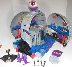 Teenage Mutant Ninja Turtles Technodrome 1990 TMNT Dome Playset Complete