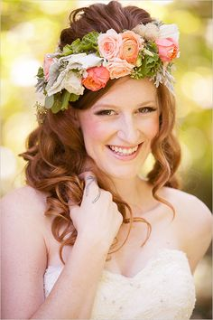floral halo head piece