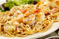 Shrimp Scampi -- This was on DR. OZ page!! It's Healthy!! Who KNew!! Replace wine with EVOO