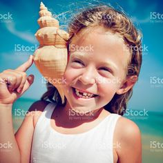 Little Girl Cheerful Summer Beach Happiness Vacation Concept royalty-free stock photo