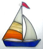 stained glass sailboat nightlight