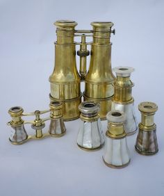A collection of victorian opera glasses