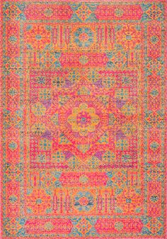 The colors of this piece transforms any dull space to something sunny and lively! This is Rugs USA's Bosphorus BD34 Hannah Sunny Token Rug!