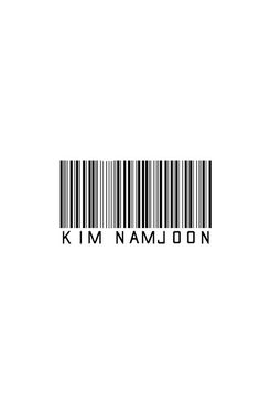 Bangtan BTS Rap Monster Barcode Design KPOP