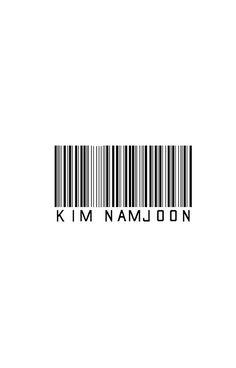 Bangtan BTS Rap Monster Barcode Design KPOP