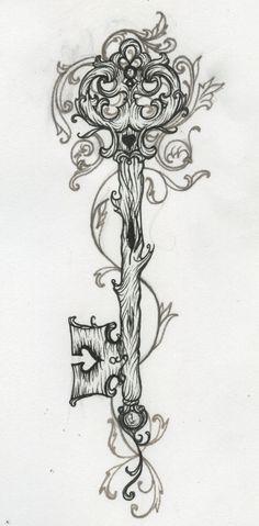 I love key tattoos