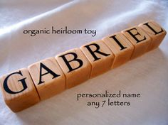 7 Name Blocks Personalized Gift by HudsonBlockCo on Etsy, $35.00 . possible for ring bearer ?