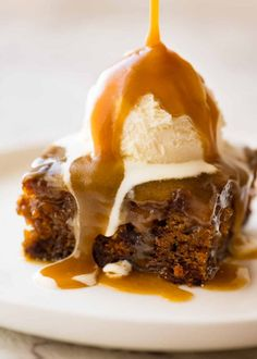 Sticky Toffee Pudding - you're my favourite and always will be. I love how easy you are to make, and how there's plenty of butterscotch sauce! Also known as Sticky Date Pudding. British Desserts, Food Network, Sticky Date Cake, Sticky Toffee Pudding Cake, Delicious Desserts, Dessert Recipes, Homemade Toffee, Recipetin Eats, Butterscotch Pudding