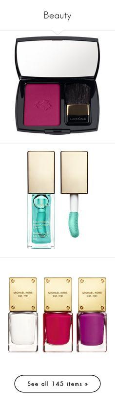 """Beauty"" by lulalalala ❤ liked on Polyvore featuring beauty products, makeup, cheek makeup, blush, cosmetics, beauty, lancome blush, powder blush, lancôme and lip makeup"