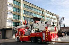 Nuevo vehículo en altura del Parque de Bomberos de Fuenlabrada   (28-01-2013)