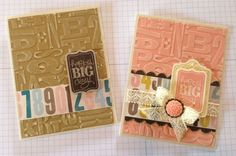 Stampin Up! His & Her: Soho Subway designer paper,  stamp set Chalk Talk Birthday Cards