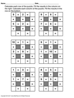Free Math Worksheets First Grade 1 Addition Missing Addend Sum Under 10 . 3 Worksheet Free Math Worksheets First Grade 1 Addition Missing Addend Sum Under 10 . Free Printable First Grade Worksheets Free Worksheets Kids Fun Worksheets For Kids, Math Games For Kids, Puzzles For Kids, Kids Math, 2nd Grade Math Games, Math Enrichment, Math Activities, Printable Math Worksheets, Free Printable