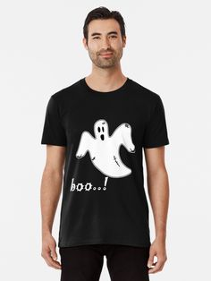 Boo Ghost, Wash Bags, Large Prints, Tshirt Colors, Chiffon Tops, Looks Great, Fitness Models, Shirt Designs, Tees