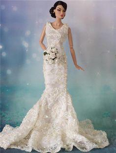 Tonner Tyler, Barbie Ellowyne BJD Doll wedding Posy bouquet Poppy Parker #EnterYourOwnOOAKByErika #DollswithClothingAccessories