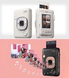 Fujifilm Instax Mini LiPlay Actually Prints Audio Onto Instant Photos Portable Photo Printer, Instant Print Camera, Latest Gadgets, Cool Technology, Blush And Gold, Fujifilm Instax Mini, Card Sizes, Audio, Teen Life