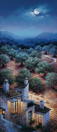 louis romero art | Luis Romero 1948 | Spanish Spray Paint Landscape painter | Tutt'Art ...