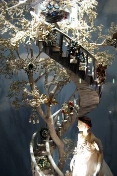 I Heart Shabby Chic: Shabby Chic Christmas Window Display stairs-steps Christmas Window Display, Window Display Design, Store Window Displays, Christmas Windows, Christmas Displays, Christmas Store, Christmas Decorations, Retail Displays, Christmas Holidays