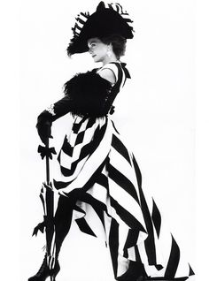 Michelle Pfeiffer as Eliza Doolittle by Herb Ritts / Vogue October 1991 Herb Ritts, The New Classic, Eliza Doolittle, Gibson Girl, Michelle Pfeiffer, Portraits, Black White Stripes, White Gold, Black And White Photography
