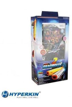 Attack of the Movies 3d Video Game with 2 blasters for Nintendo Wii