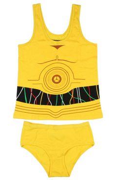 Underoos Star Wars C-3PO Girls Underwear Set Juniors Undergarment