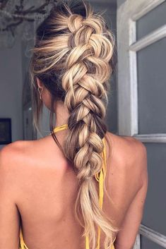 Idée Tendance Coupe & Coiffure Femme 2017/ 2018 : Dutch braids are among the most sophisticated long hairstyles. Now lets disco