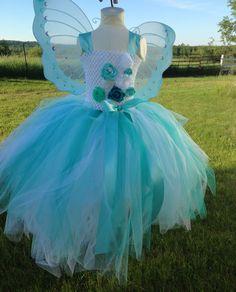 Aqua Fairy Butterfly Tutu Dress