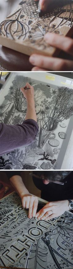 Angie Lewin - printmaker, painter and designer