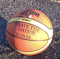 Engagement photo shoots with our custom save the date decals. Basketball Engagement Photos, Basketball Wedding, Love And Basketball, Engagement Pictures, Basketball Couples, Basketball Quotes, Wedding Planning List, Wedding Planner, Picnic Engagement