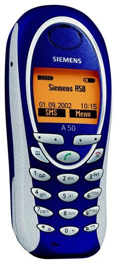 Siemens A50 - Oh meu Deus! Esse aqui era o preferido da garotada em 2003/2004. Minha mãe comprou um e ainda tem ele até hoje mas, não segura carga...