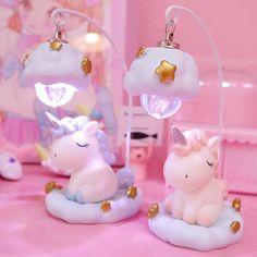 Kawaii Unicorn Starlight LED Lamp - All For Decoration Unicorn Bedroom Decor, Unicorn Rooms, Unicorn Wall, Little Unicorn, Cute Unicorn, Unicorn Kids, Kawaii Bedroom, Lampe Decoration, Cartoon Unicorn