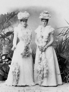 """Imperial sisters, Ella and Alix. """"She drove me away like a dog! Poor Nicky! Poor Russia!"""" Ella said after her last meeting with her sister Alix, Tsarina of Russia. Ella tried to reason with her sister regarding Rasputin and his influence over her. They never met again."""