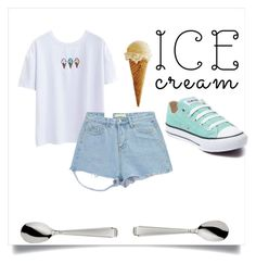 """Nation Icecream day!"" by carleelingard on Polyvore featuring Chicnova Fashion, Converse and Robbe & Berking"
