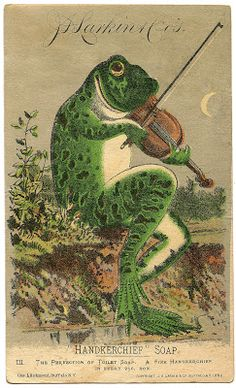 Vintage Image - Fabulous Frog with Violin - The Graphics Fairy---DIY printed decor for nursery maybe?!