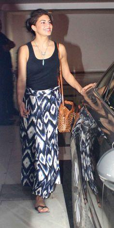 Jacqueline Fernandez at Karan Johar's bash.