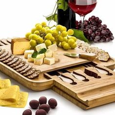 Bambusi Cheese Board and Knife Set - Bamboo Wood Charcuterie Platter Serving Tray with Cutlery - Perfect for Birthday, Housewarming & Wedding Gifts Home Garden Kitchen Dining Tableware Serveware Platters Kitchen Items, Kitchen Dining, Cheese Board Set, Charcuterie Platter, Buy Bamboo, Kitchenware, Tableware, Chandelier, Cutlery Set