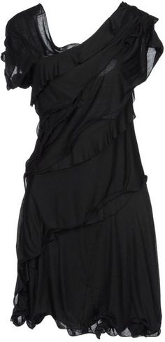 Nina Ricci Short Dress in Black (vert) - Lyst