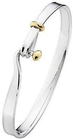 Georg Jensen Torun 18ct yellow-gold and sterling silver bangle http://www.vanasjewelry.com/shop/ #SterlingSilverBangles