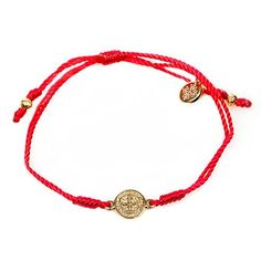 Red Cord Bracelet Is Complimented By a Gold Benedictine Medal, Which Is One of the Most Powerful Symbols of Protection. Each Bracelet Comes Displayed on a Card with Its Story and the Reminder of the Power of Prayer. In Time of Need, Run Your Finger Along the Simple String; Grasp the Medal and Breathe. By Simply Focusing Our Attention on Taking a Breath and Linking That Breath to God, We Can Dispel the Chaos of the World. MH001…