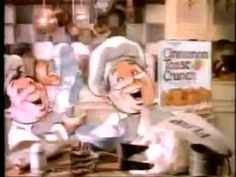There were a few cereal mascots back in the that weren't animals, including the CTC Bakers. 1980s Childhood, Childhood Memories, 80s Food, 1980s Kids, Jenny Lewis, Cinnamon Toast Crunch, The Past, Commercial, Retro