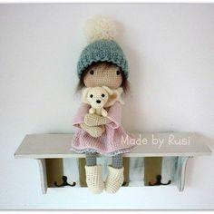 Leah #crochet #crochetdoll #amigurumi #amigurumidoll #madebyrusi #rusidolls #handmade  #lovecrochet #loveamigurumi