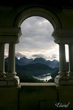 From The Elves' Temple - Neuschwanstein Castle, Germany Germany Castles, Neuschwanstein Castle, Famous Castles, Fantasy Places, Life Is An Adventure, The Elf, Small Towns, Beautiful World, Elves